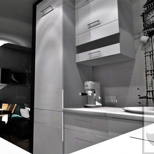 Projekty wnętrz Śląsk Projekt wnętrza kuchni w Bytomiu.