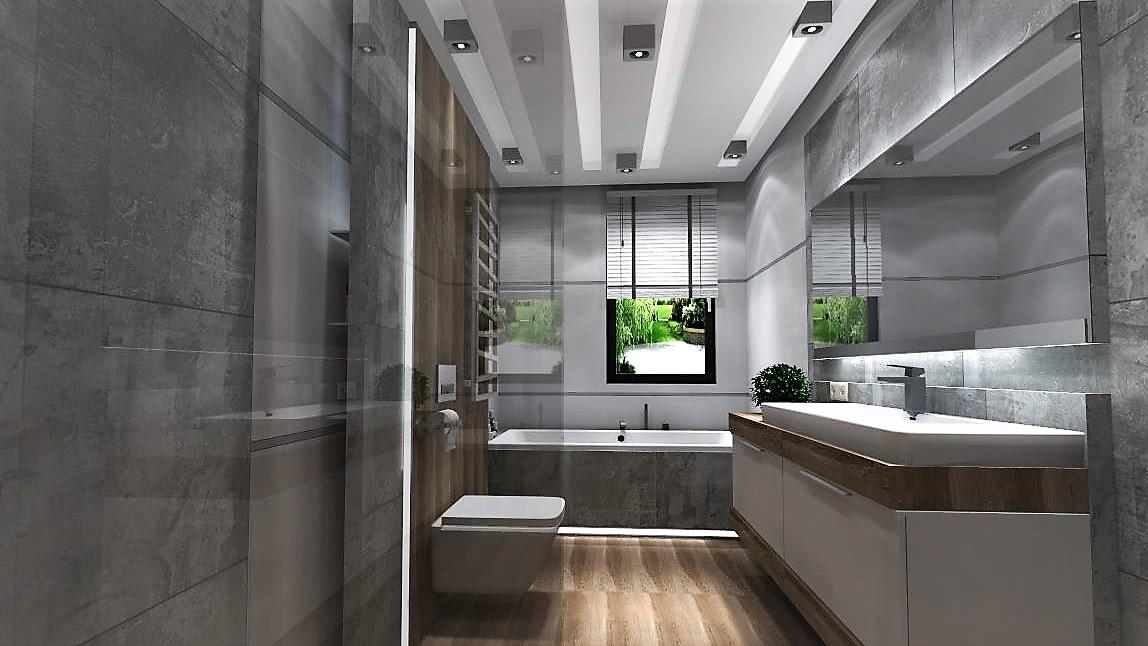 Projekty wnętrz Śląsk - łazienka Pawłowice 01