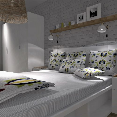 J&S Design projekty wnętrz Śląsk sypialnia bytom