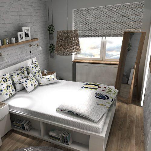 J&S Design projekty wnętrz Śląsk sypialnia bytom 01